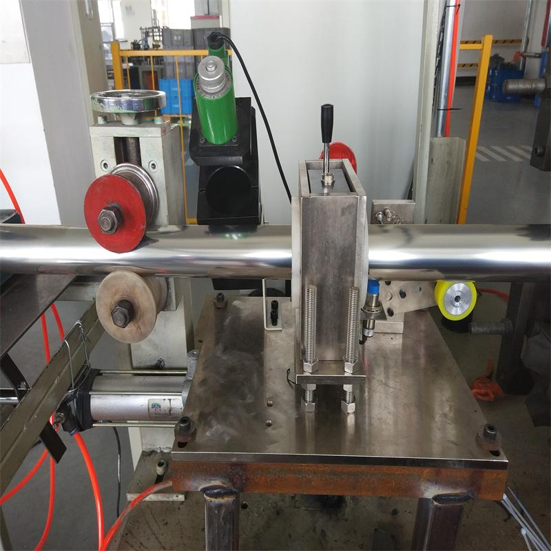 On-line eddy current testing system for stainless steel straight welded pipe ECN1002/EFN1002